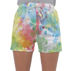 Abstract Pattern Color Art Texture Sleepwear Shorts