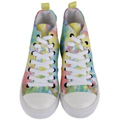 Abstract Pattern Color Art Texture Women s Mid Top Canvas Sneakers