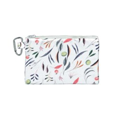 Watercolor Tablecloth Fabric Design Canvas Cosmetic Bag (small)