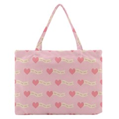 Heart Love Pattern Zipper Medium Tote Bag by Nexatart