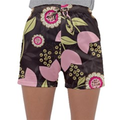 Flowers Wallpaper Floral Decoration Sleepwear Shorts