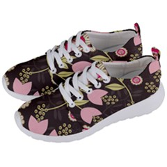 Flowers Wallpaper Floral Decoration Men s Lightweight Sports Shoes by Nexatart