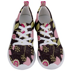 Flowers Wallpaper Floral Decoration Women s Lightweight Sports Shoes