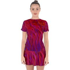 Background Texture Pattern Drop Hem Mini Chiffon Dress by Nexatart