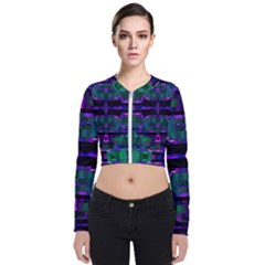 Abstract Pattern Desktop Wallpaper Zip Up Bomber Jacket