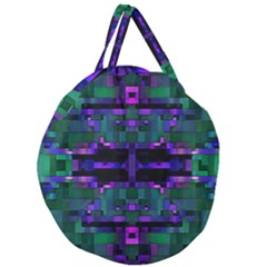 Abstract Pattern Desktop Wallpaper Giant Round Zipper Tote