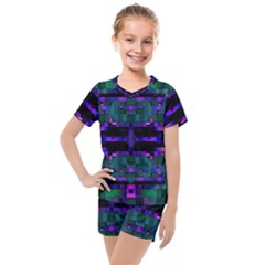 Abstract Pattern Desktop Wallpaper Kids  Mesh Tee And Shorts Set