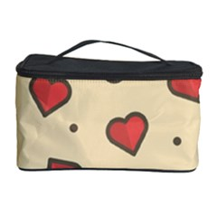 Design Love Heart Seamless Pattern Cosmetic Storage Case