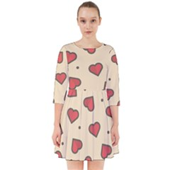 Design Love Heart Seamless Pattern Smock Dress