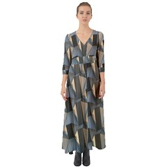 Pattern Texture Form Background Button Up Boho Maxi Dress
