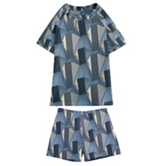 Pattern Texture Form Background Kids  Swim Tee And Shorts Set