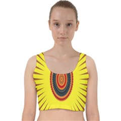Art Decoration Wallpaper Bright Velvet Racer Back Crop Top