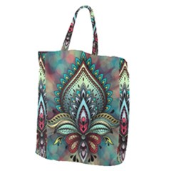 Decoration Pattern Ornate Art Giant Grocery Tote