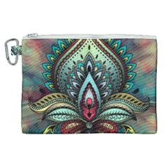 Decoration Pattern Ornate Art Canvas Cosmetic Bag (xl)