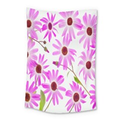Pink Purple Daisies Design Flowers Small Tapestry