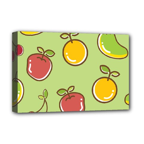 Seamless Pattern Healthy Fruit Deluxe Canvas 18  X 12   by Nexatart