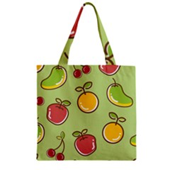 Seamless Pattern Healthy Fruit Zipper Grocery Tote Bag