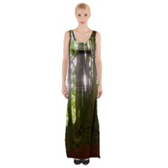 Tree Of Trees Maxi Thigh Split Dress by DeneWestUK