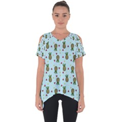 Pineapple Watermelon Fruit Lime Cut Out Side Drop Tee