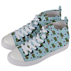 Pineapple Watermelon Fruit Lime Women s Mid Top Canvas Sneakers by Nexatart