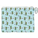 Pineapple Watermelon Fruit Lime Canvas Cosmetic Bag (XXL) View2