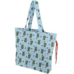 Pineapple Watermelon Fruit Lime Drawstring Tote Bag by Nexatart