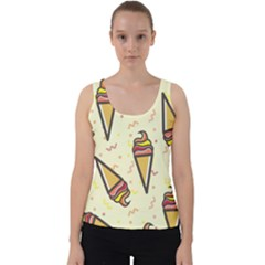 Pattern Sweet Seamless Background Velvet Tank Top