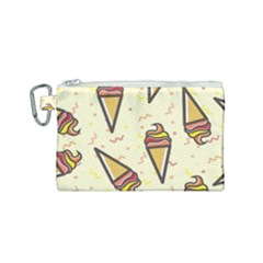 Pattern Sweet Seamless Background Canvas Cosmetic Bag (small) by Nexatart