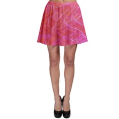 Pink Background Abstract Texture Skater Skirt by Nexatart