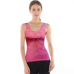 Pink Background Abstract Texture Tank Top