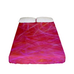 Pink Background Abstract Texture Fitted Sheet (full/ Double Size) by Nexatart