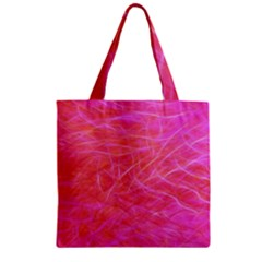 Pink Background Abstract Texture Zipper Grocery Tote Bag by Nexatart