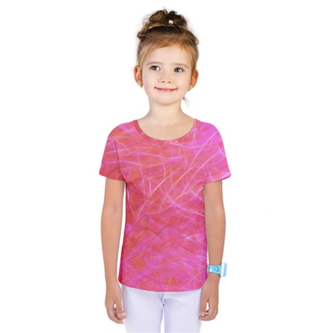 Pink Background Abstract Texture Kids  One Piece Tee by Nexatart