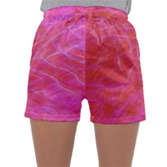 Pink Background Abstract Texture Sleepwear Shorts