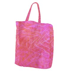 Pink Background Abstract Texture Giant Grocery Tote
