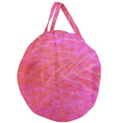 Pink Background Abstract Texture Giant Round Zipper Tote by Nexatart