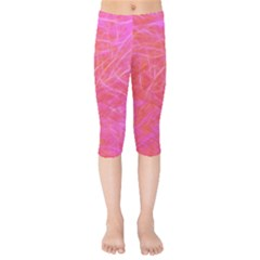 Pink Background Abstract Texture Kids  Capri Leggings  by Nexatart