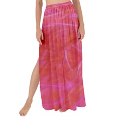 Pink Background Abstract Texture Maxi Chiffon Tie-up Sarong by Nexatart