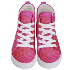 Pink Background Abstract Texture Kid s Hi Top Skate Sneakers