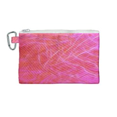 Pink Background Abstract Texture Canvas Cosmetic Bag (medium) by Nexatart