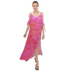 Pink Background Abstract Texture Maxi Chiffon Cover Up Dress by Nexatart
