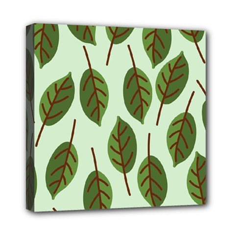 Design Pattern Background Green Mini Canvas 8  X 8  by Nexatart