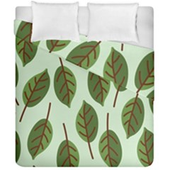 Design Pattern Background Green Duvet Cover Double Side (california King Size)