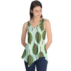 Design Pattern Background Green Sleeveless Tunic by Nexatart