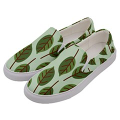 Design Pattern Background Green Men s Canvas Slip Ons by Nexatart