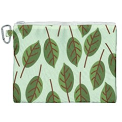 Design Pattern Background Green Canvas Cosmetic Bag (xxl) by Nexatart