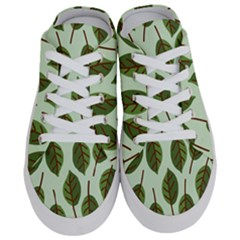Design Pattern Background Green Half Slippers