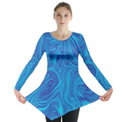 Abstract Pattern Art Desktop Shape Long Sleeve Tunic
