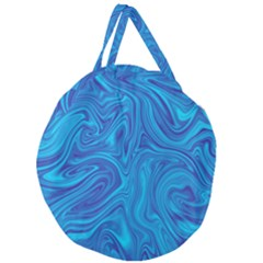 Abstract Pattern Art Desktop Shape Giant Round Zipper Tote