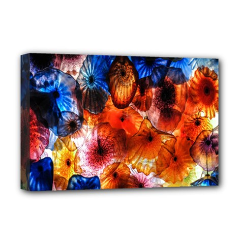 Ornament Color Vivid Pattern Art Deluxe Canvas 18  X 12   by Nexatart